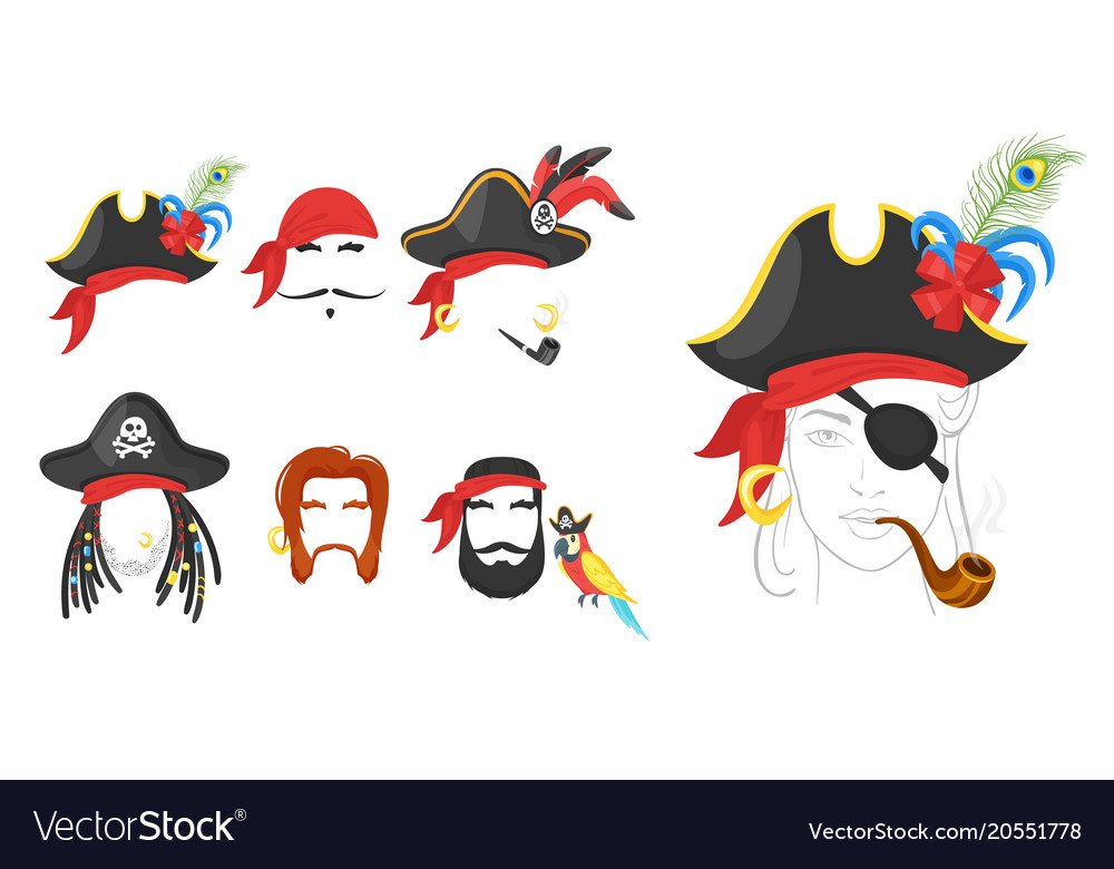 Pirate faces elements