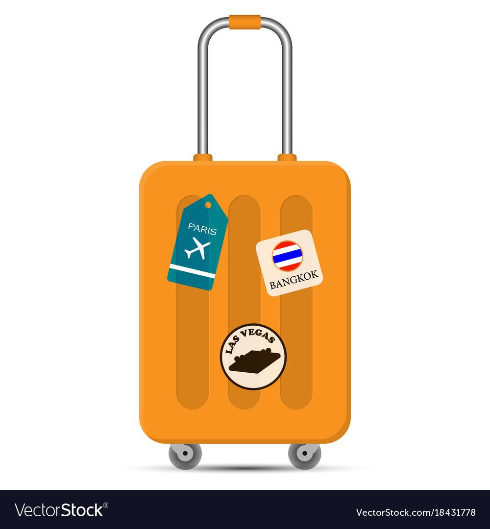 Travel Bag On White Background Flat Design