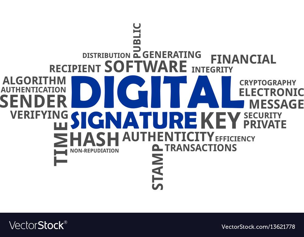 digital signature in word