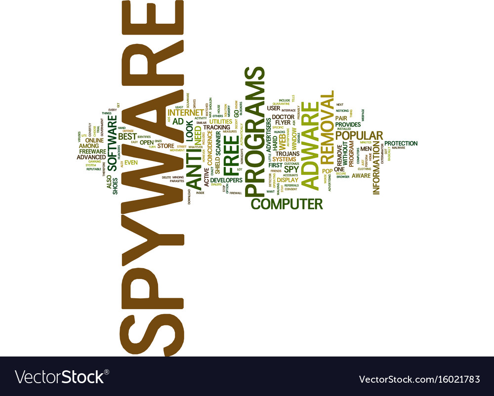 Best free spyware remover text background word