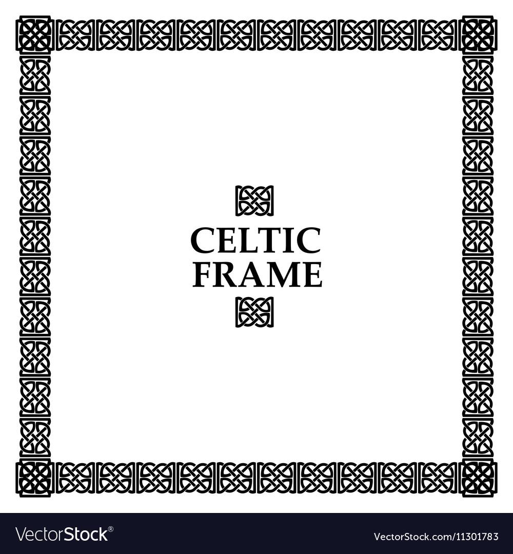 Celtic knot square frame