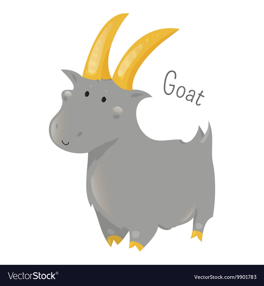 Goat isolated Sticker for kids Child fun icon