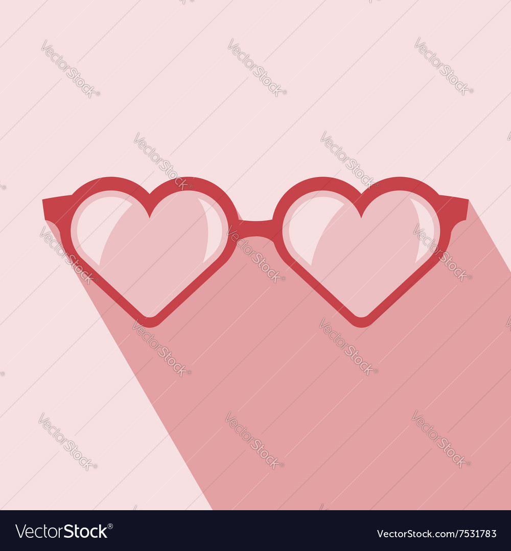 40726420dfd Heart shaped glasses Royalty Free Vector Image