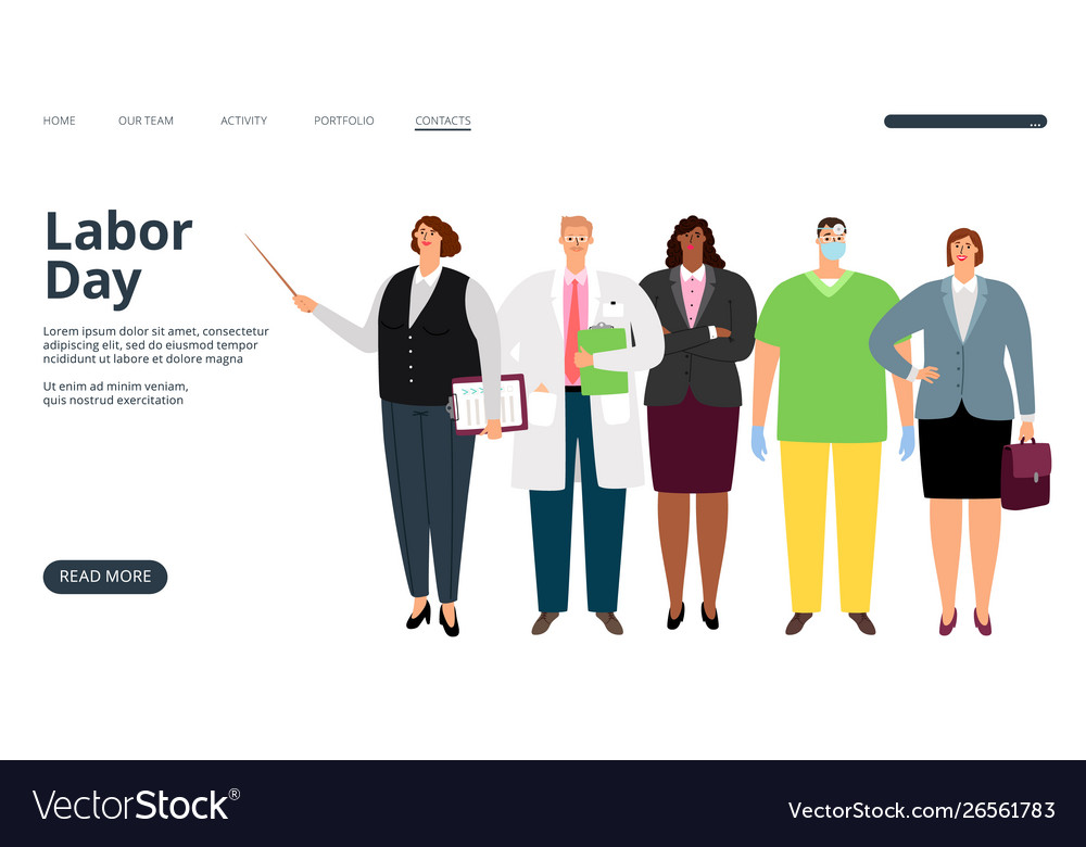 Labor day landing page