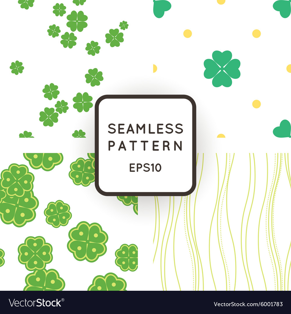 Set of seamless patterns with clovers