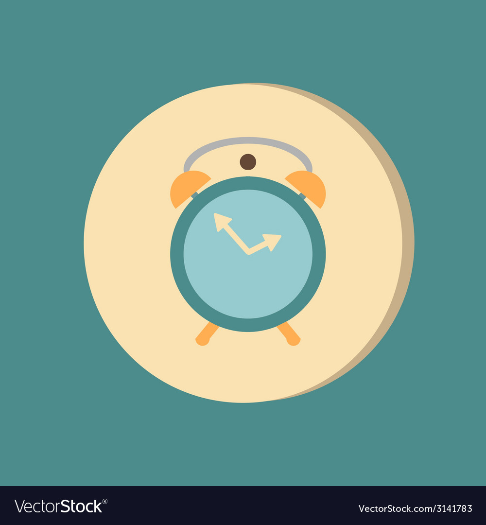 Symbol morning Alarm icon The clock shows the