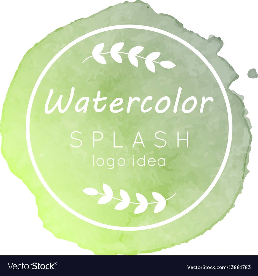 Watercolor splash logo idea