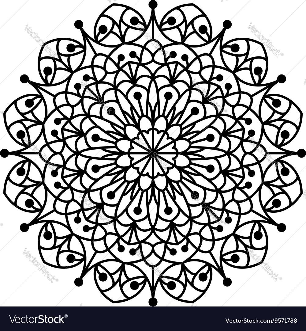 Coloring Book Mandala Royalty Free Vector Image
