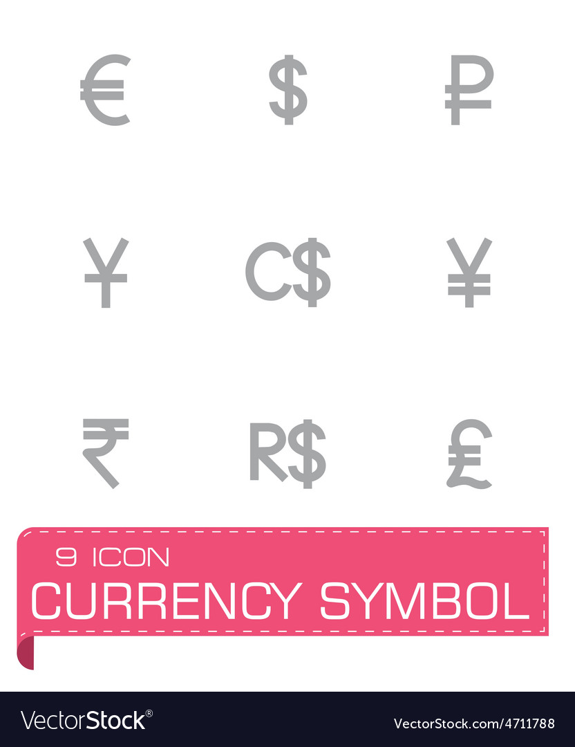 Currency Symbol Icon Set Royalty Free Vector Image
