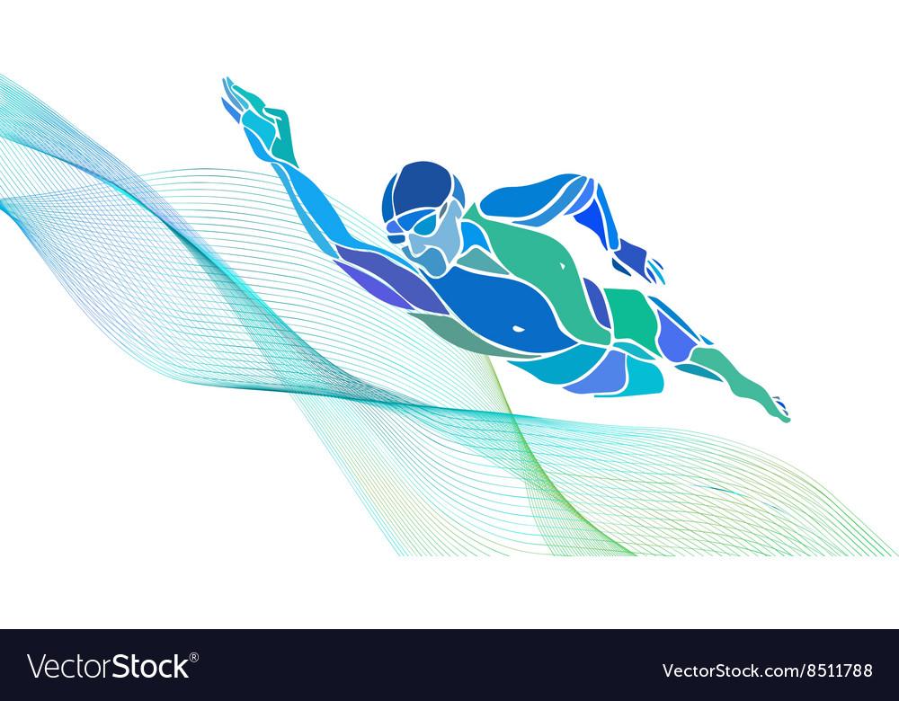 freestyle swimmer silhouette sport swimming vector image rh vectorstock com swim vector swimwear victoria's secret