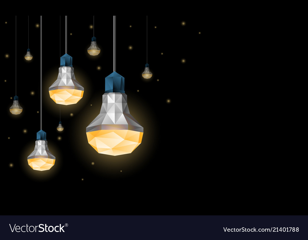 Led light bulbs hanging from the ceiling vector image aloadofball Image collections