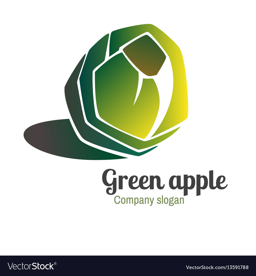 Logo with green apple