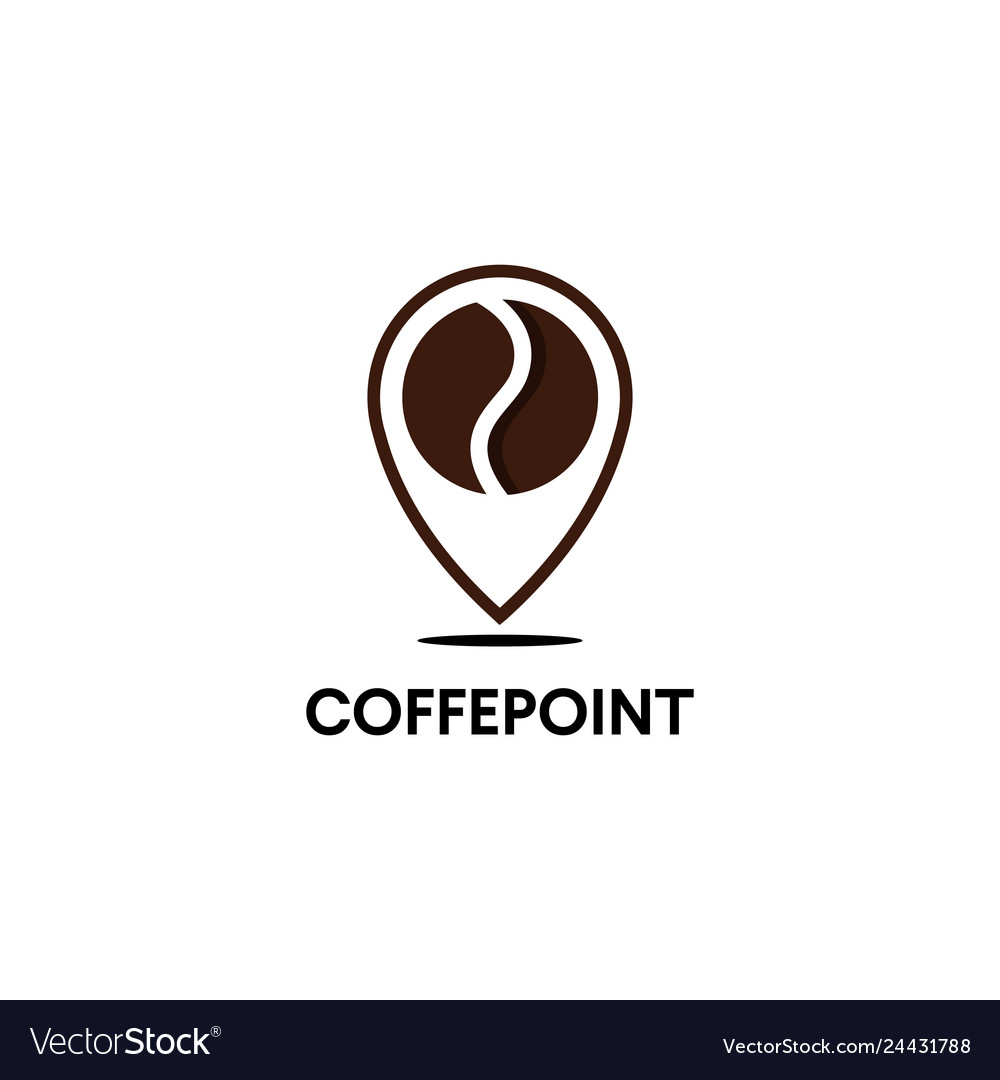 Minimalistic logo for coffee shop outline