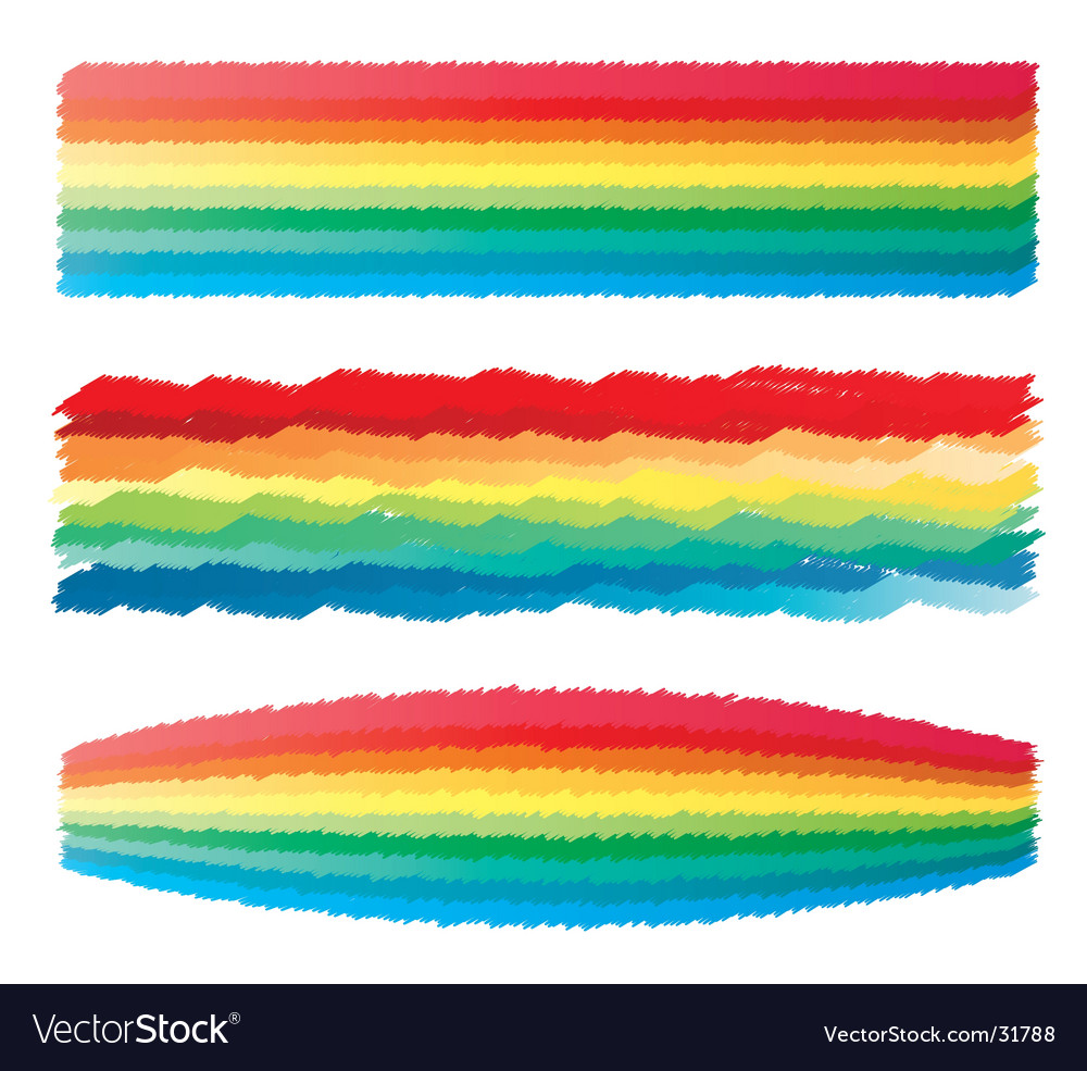 rainbow crayon scribble royalty free vector image