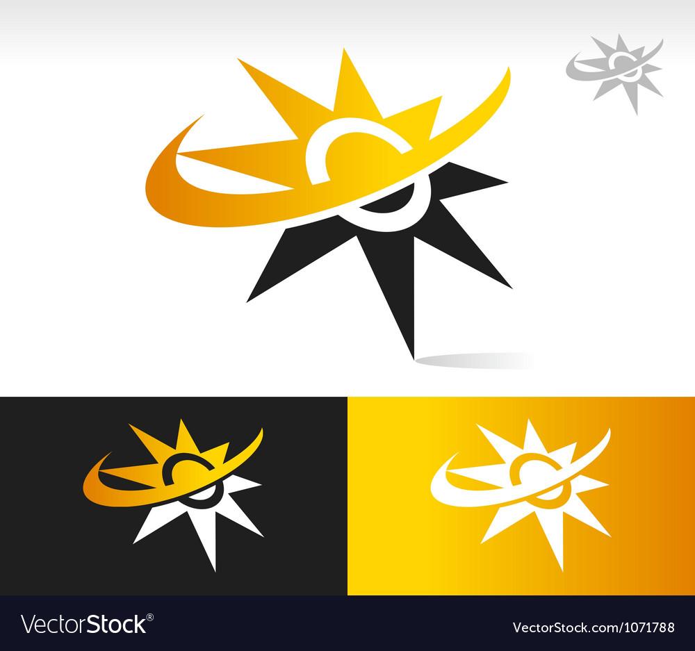 Sun Swoosh Logo Icons vector image