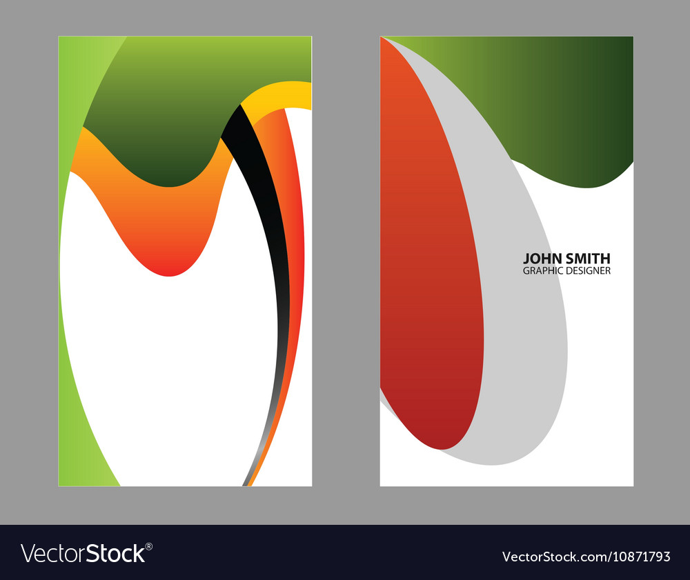 Black And Orange Business Card Vector Image
