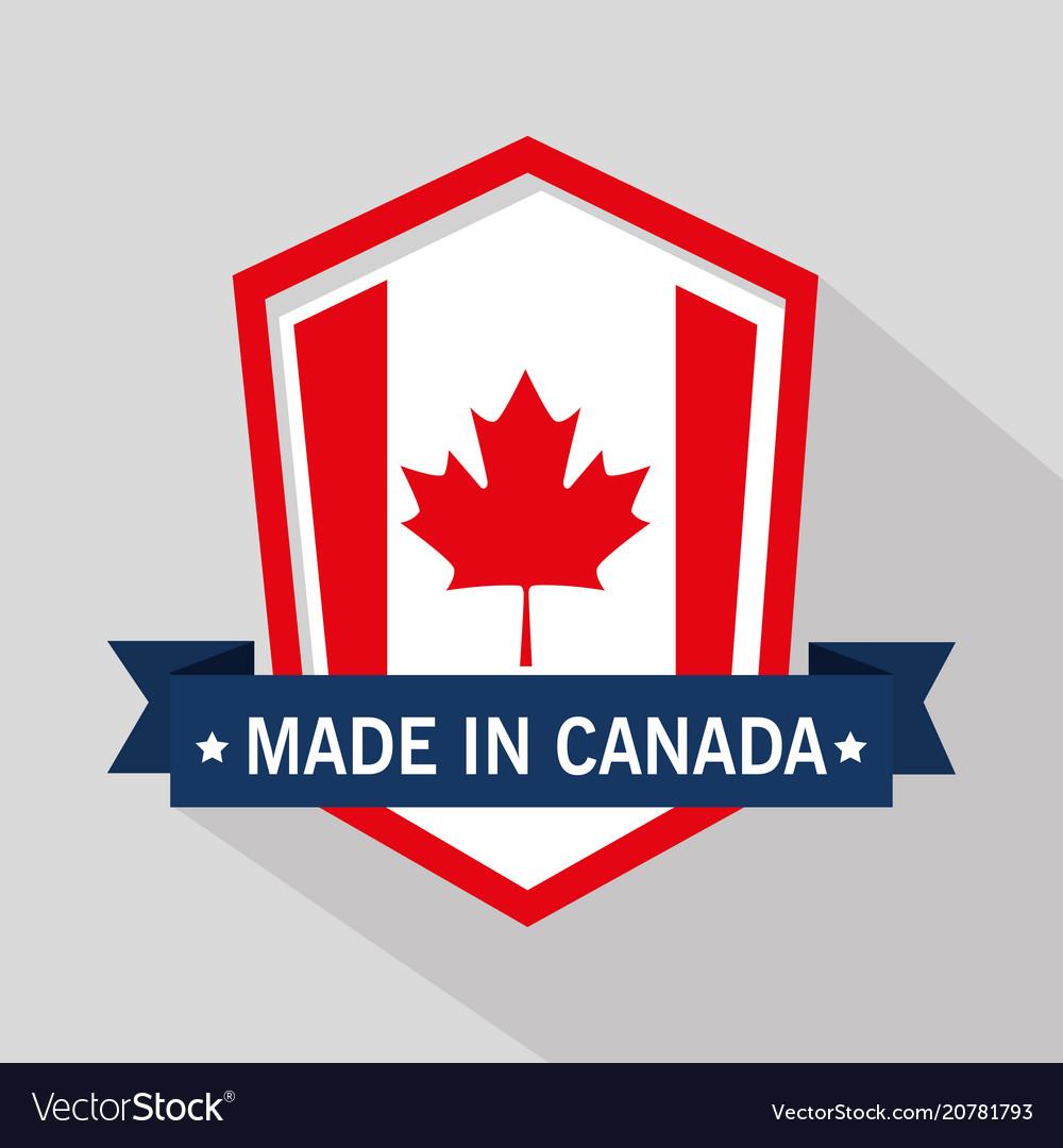 Canada quality seal icon vector image