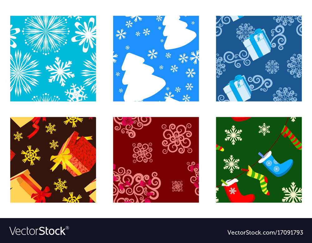 Christmas textures vector image