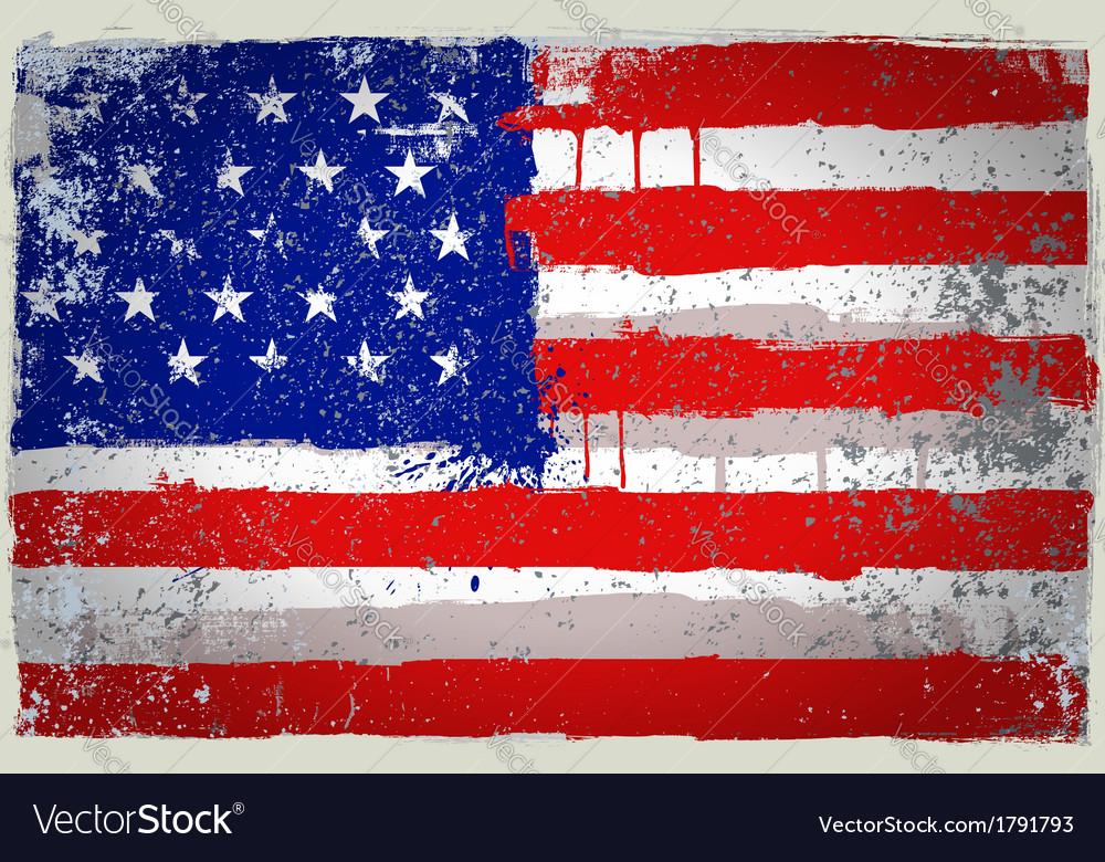 Color USA paint flag