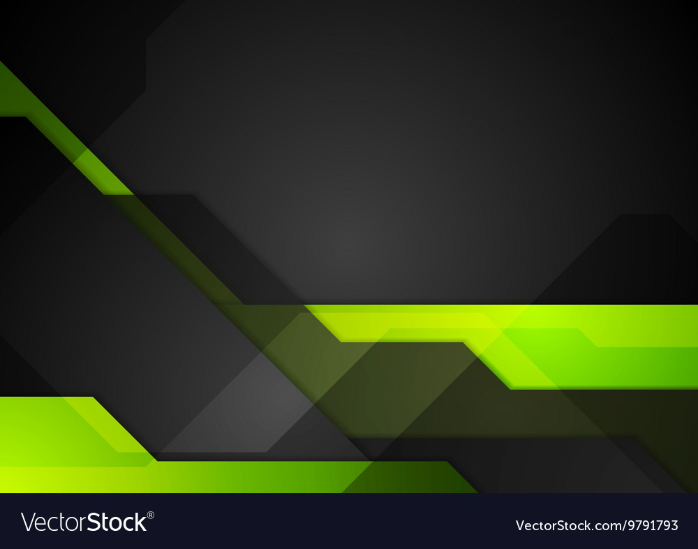 Green black abstract tech background Royalty Free Vector
