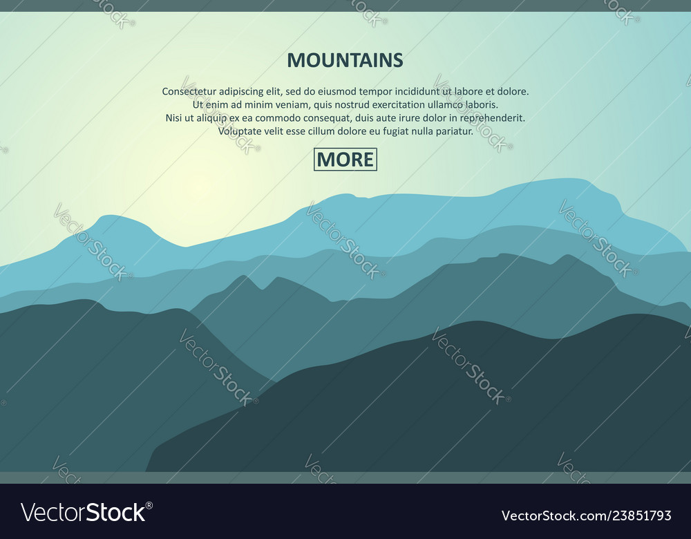 Mountains journey page