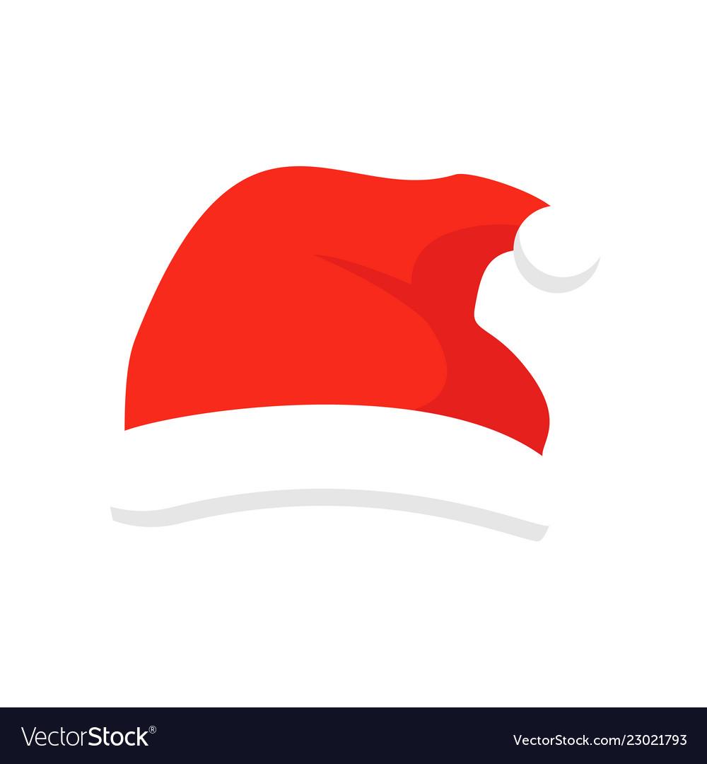 Santa claus red hat isolated santa christmas hat