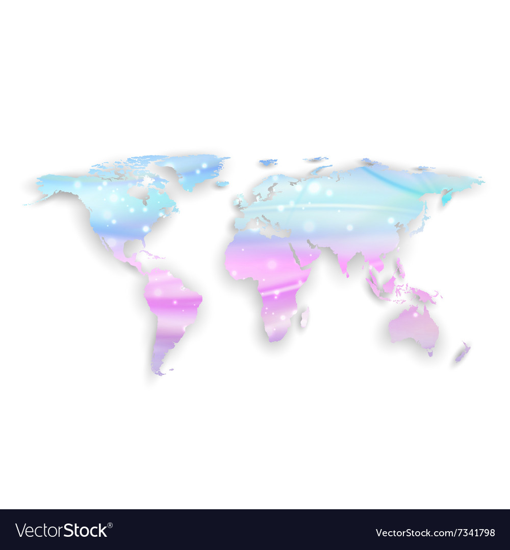 Beautiful world map with shadow on white vector image gumiabroncs Image collections