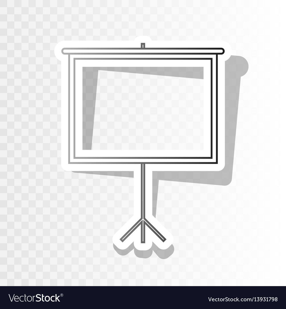 Blank projection screen new year blackish