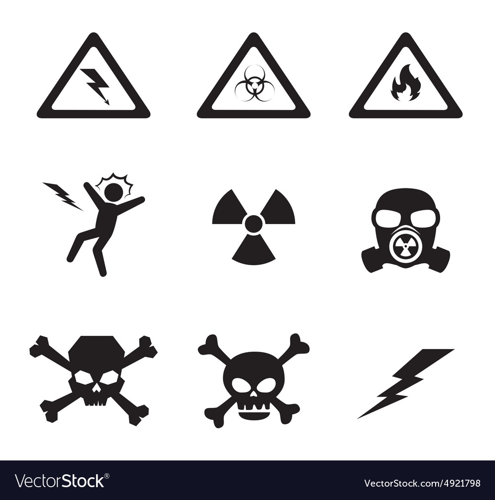 Danger design vector image
