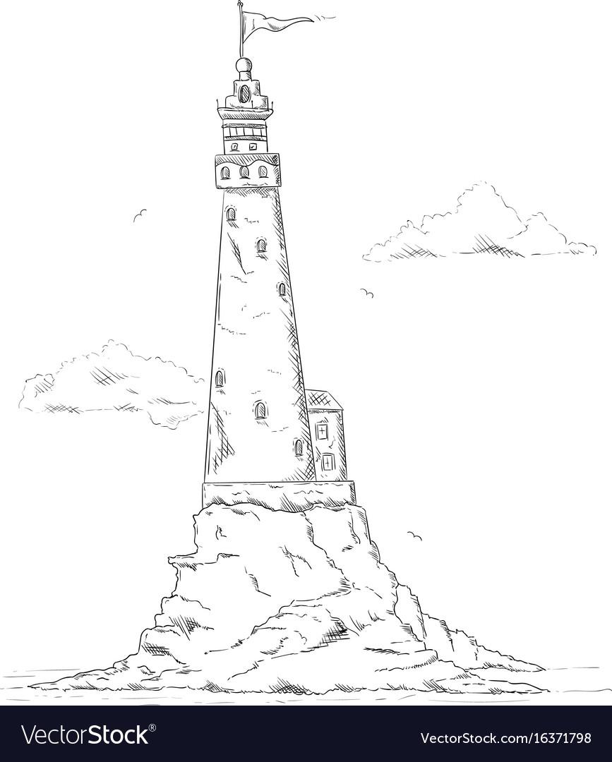 Lighthouse on rock