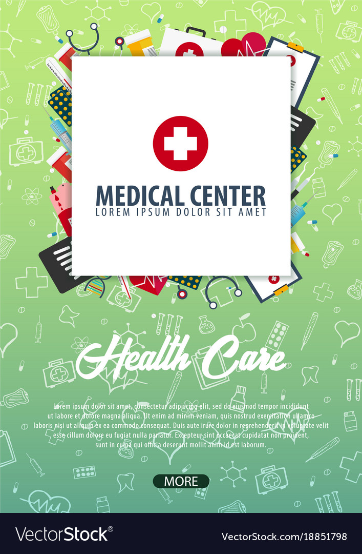 Medical center medical background health care vector image stopboris Choice Image