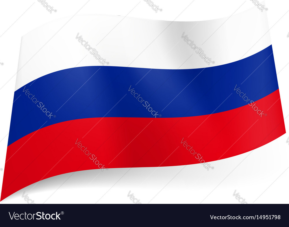 National flag of russian federation white blue