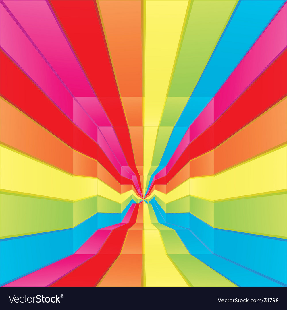 Rainbow labyrinth design vector image