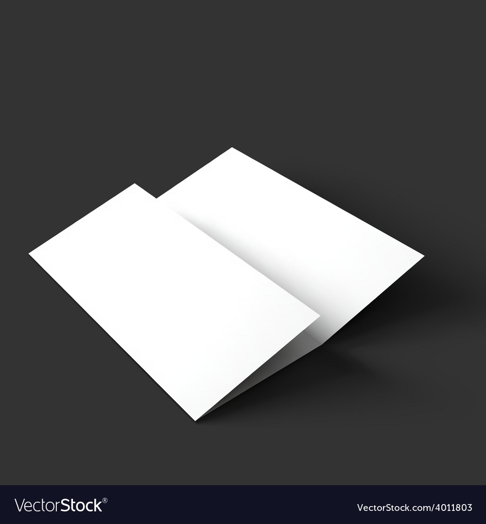 blank trifold paper brochure mockup royalty free vector