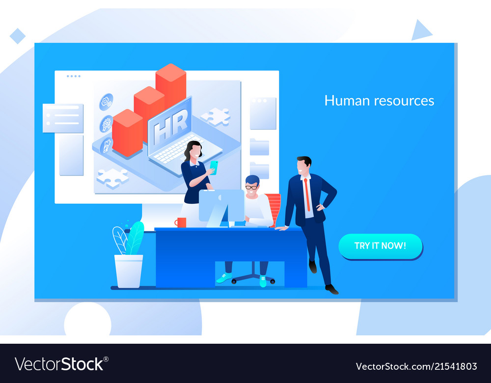 Business hr concept recruiting staff in company