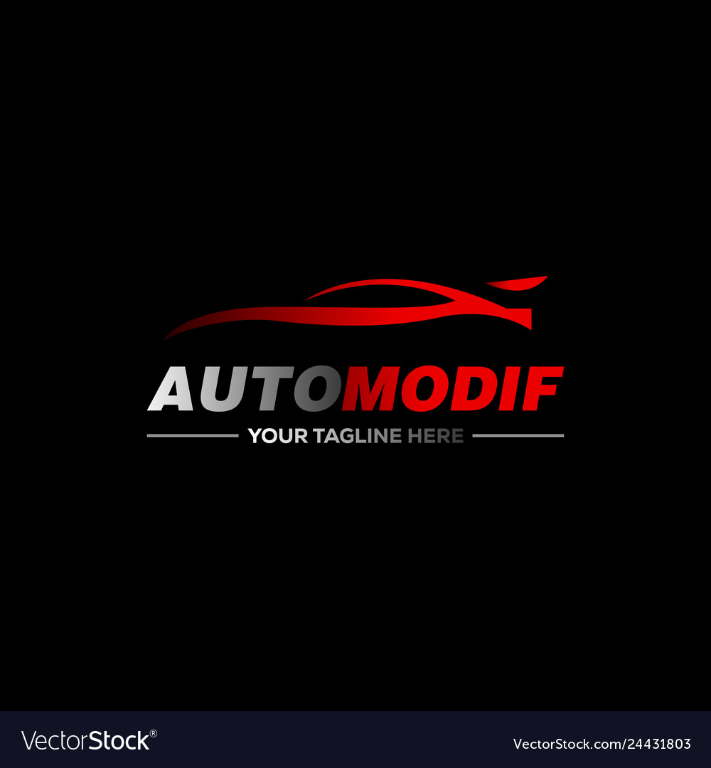 Car logo in simple line graphic design template