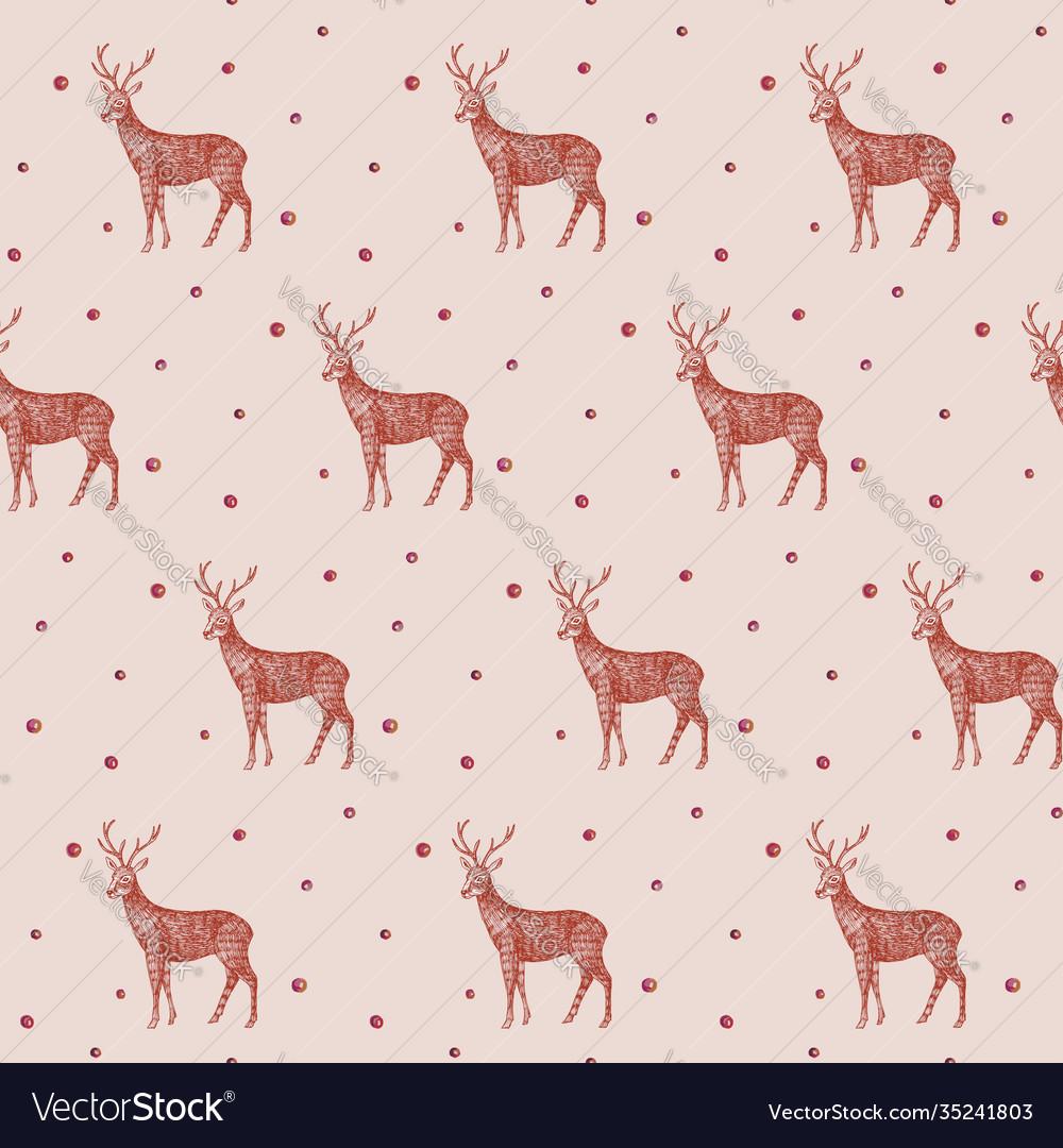 Christmas pattern seamless deer