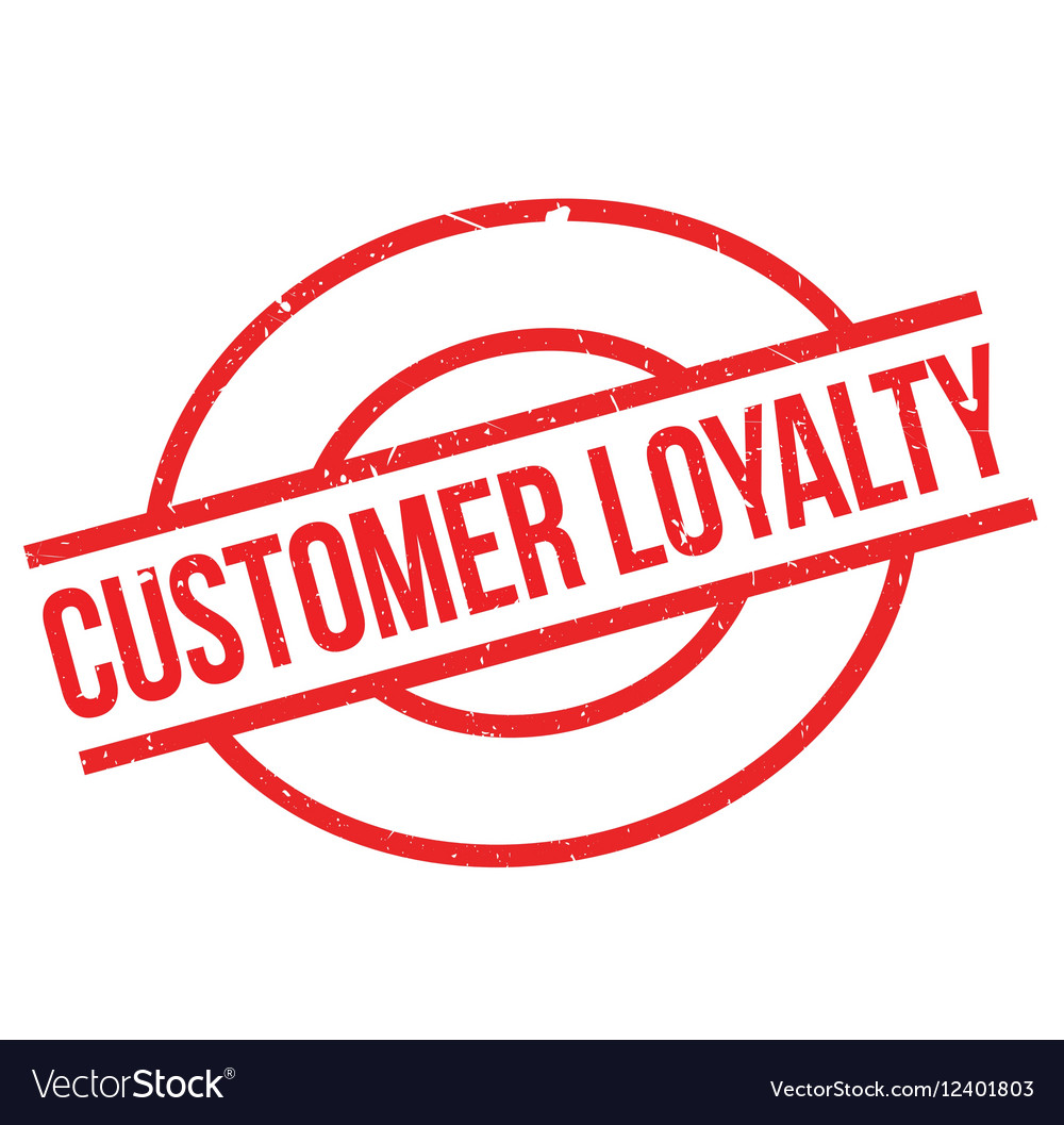 Customer Loyalty Rubber Stamp Vector Image