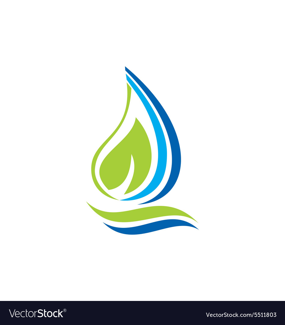 Fresh water leaf ecology abstract logo