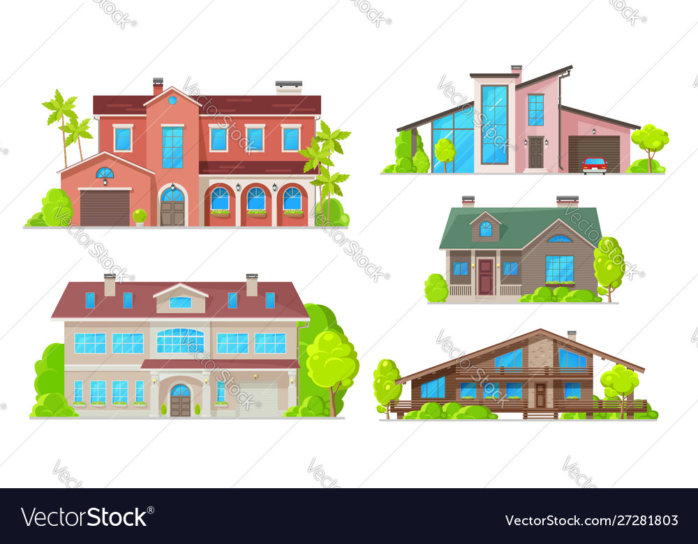 Home buildings real estate house and villa