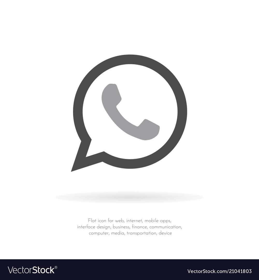 Phone icon web mobile flat design