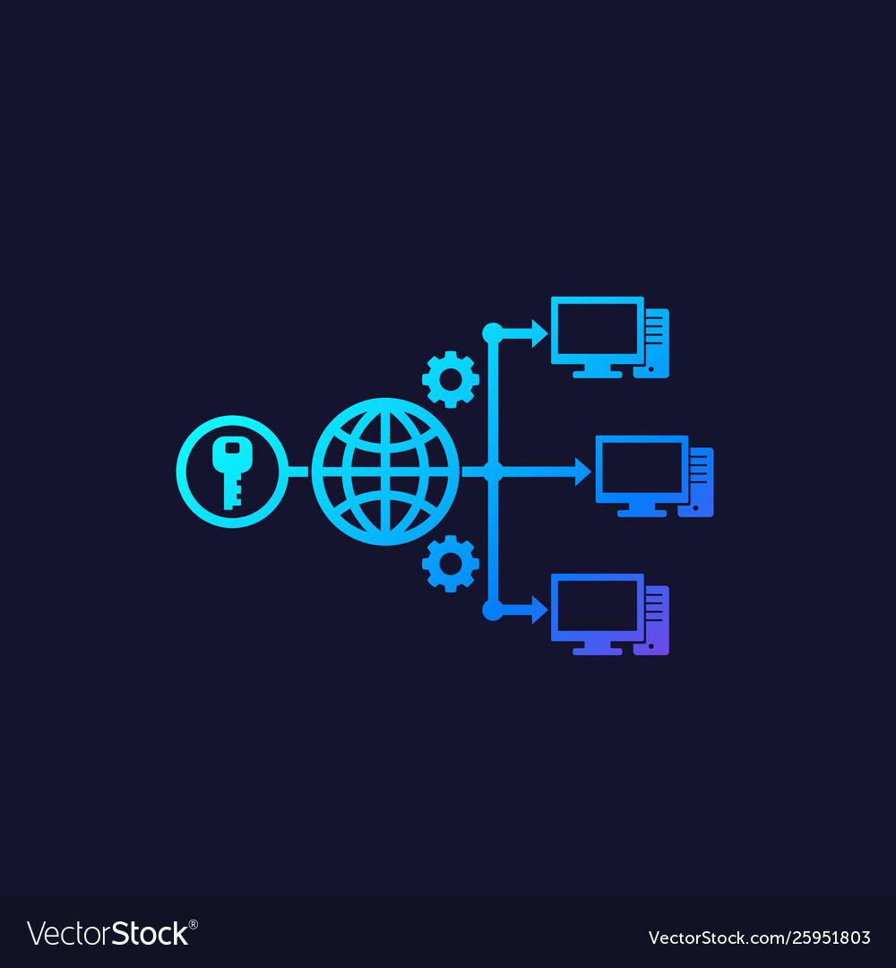 Remote access via web icon