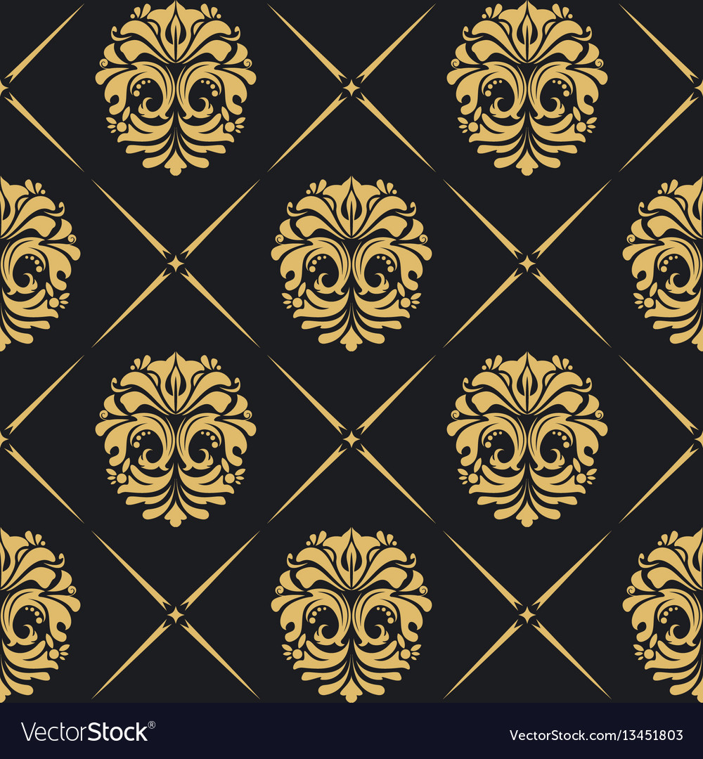 Royal background baroque vector image