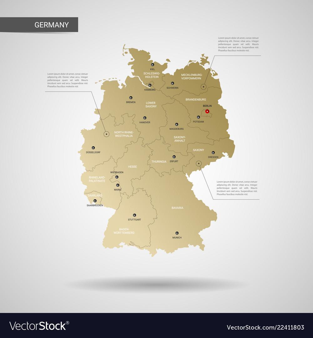 Stylized germany map