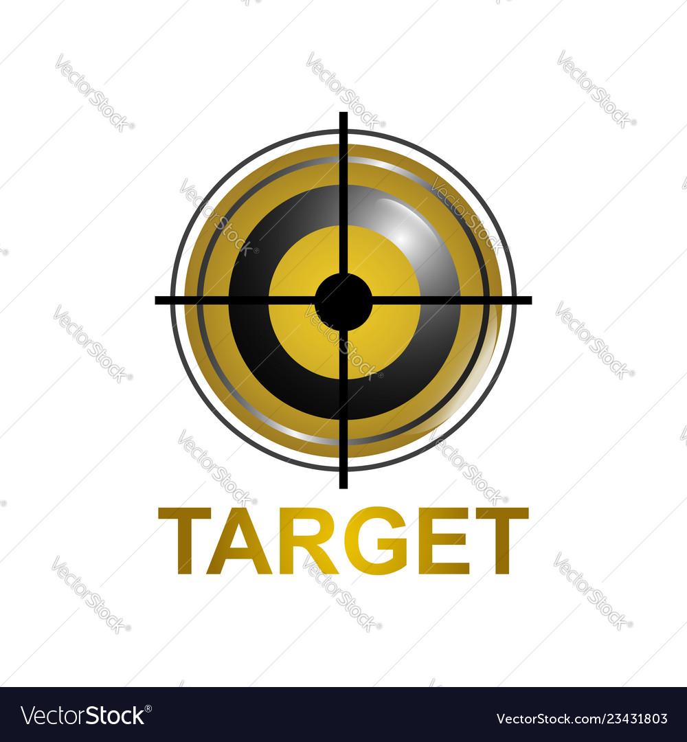 Target icon symbol logo concept design template
