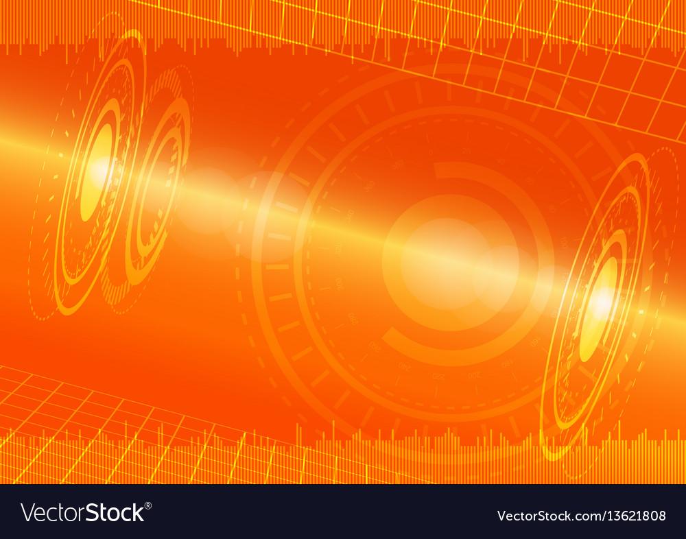 Abstract digital technology orange background