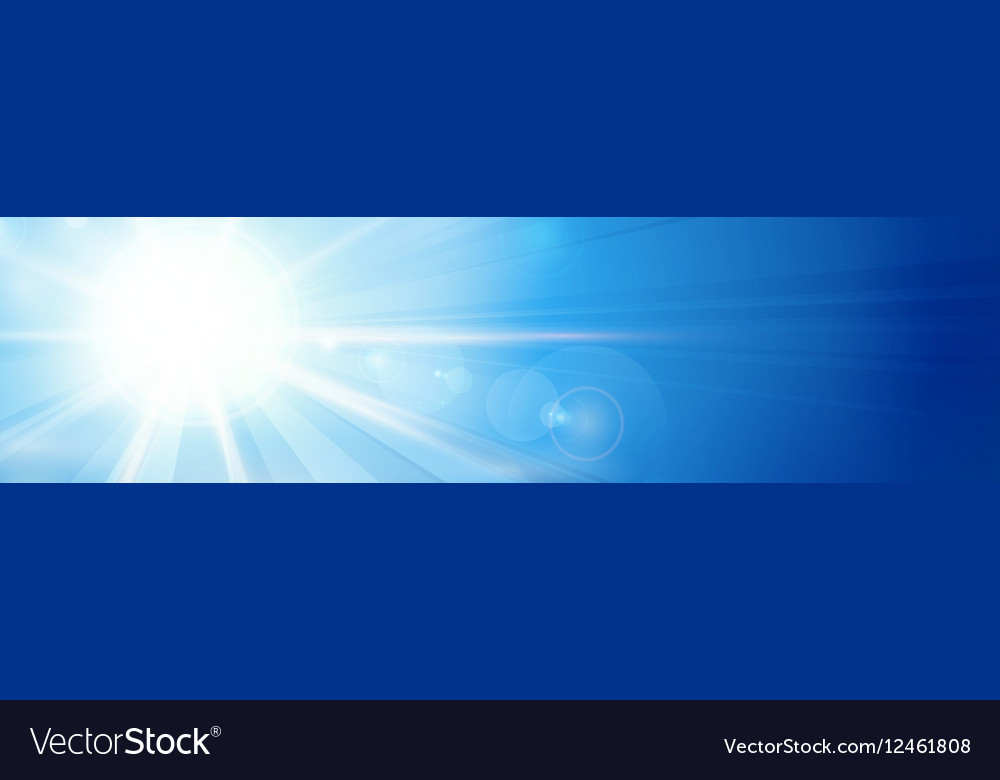 Banner panorama background blue sunny sky