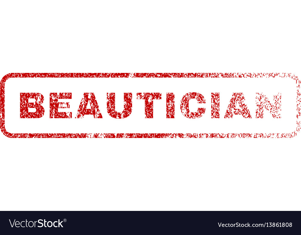 Beautician rubber stamp