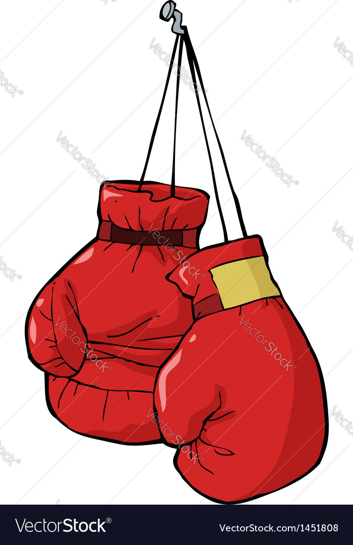 boxing gloves royalty free vector image vectorstock rh vectorstock com boxing gloves vector art free boxing gloves vector art free