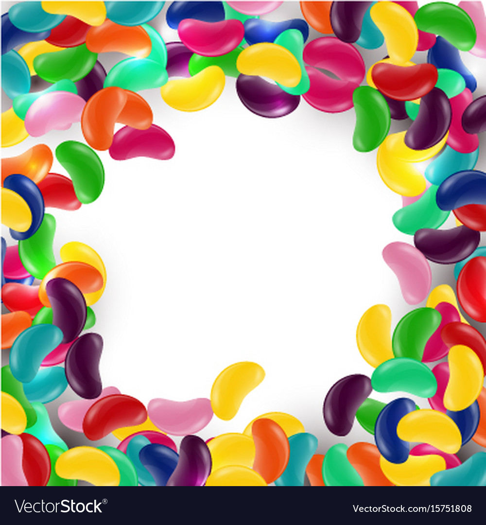 Colorful candy background with jelly beans